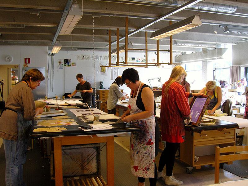 Sommarkurs i textiltryck med Josabet Werkmäster