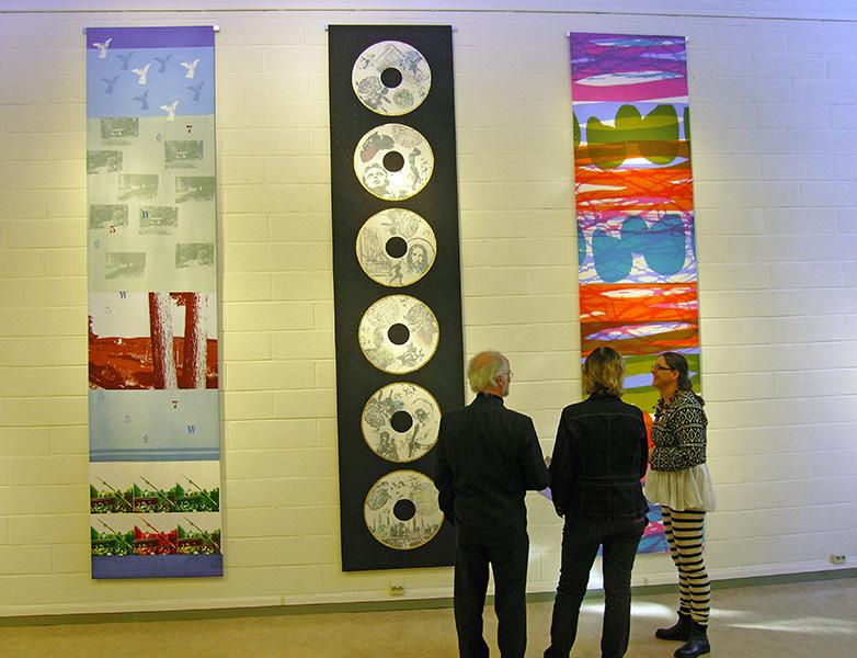 Textiltryck av Josabet Werkmäster från utställning i Rättvik
