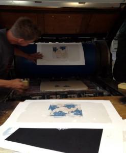 tryckning av stenlitografi