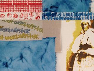detalj från en textil installation Textile Talk